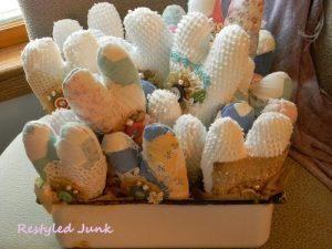 Chenille and Quilt Hearts