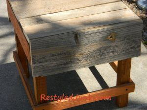 Restyled Scrap Wood Covered Table