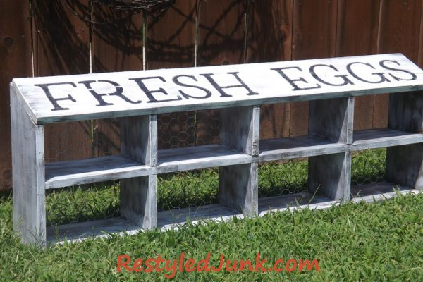 Headboard Restyle to Country Chic Shelf