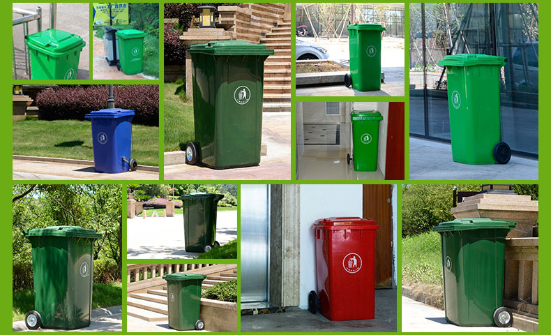 all kinds of Outdoor Garbage Cans with Locking Lids and Wheels